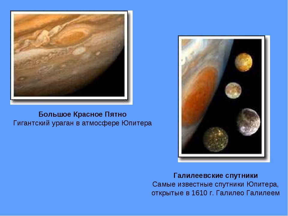 Большое Красное Пятно Гигантский ураган в атмосфере Юпитера Галилеевские спут...