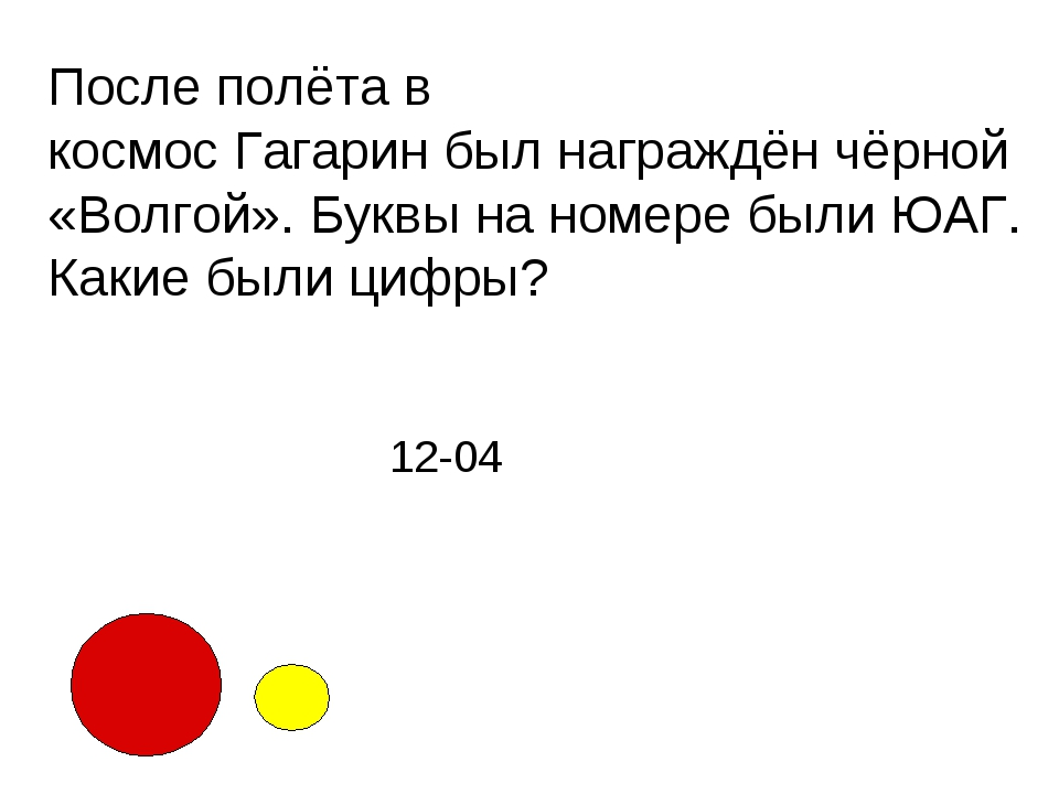 После полёта в космосГагаринбылнаграждёнчёрной «Волгой». Буквы на номере...