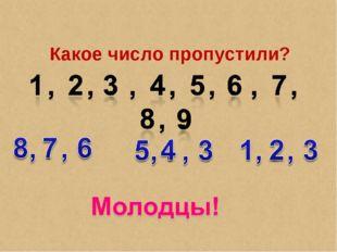 Какое число пропустили?