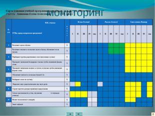 2 мониторинг Карта усвоения учебной программы по русскому языку _за 2011 – 20