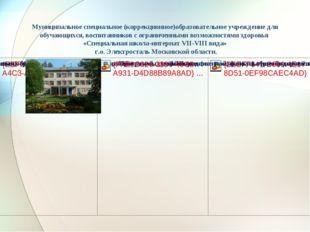 Муниципальное специальное (коррекционное)образовательное учреждение для обуч