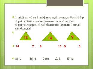 1-ші, 2-ші және 3-ші фигурадағы сандар белгілі бір тәртіпке байланысты орнала