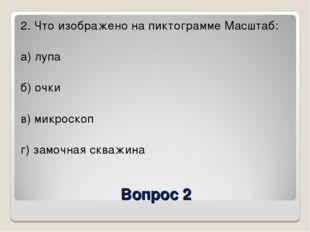 Вопрос 2 2. Что изображено на пиктограмме Масштаб: а) лупа б) очки в) микроск