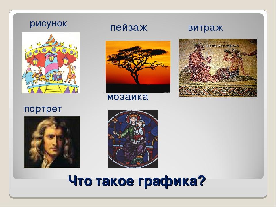 Что такое графика? пейзаж мозаика рисунок портрет витраж