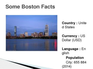 Country : United States Currency : US Dollar (USD) Language : English Popula