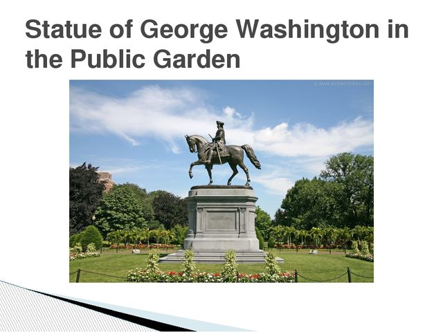 Statue of George Washington in the Public Garden