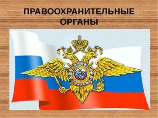 ПРАВООХРАНИТЕЛЬНЫЕ ОРГАНЫ Российской Федерации