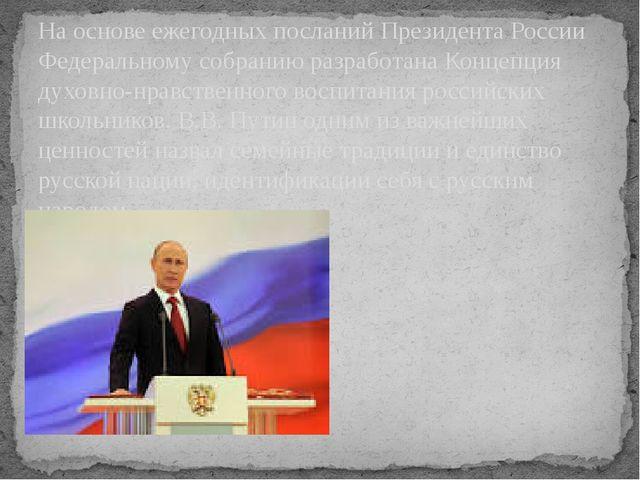 На основе ежегодных посланий Президента России Федеральному собранию разработ...