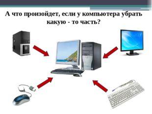 А что произойдет, если у компьютера убрать какую - то часть?