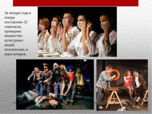За четыре года в театре поставлено 32 спектакля, проведено множество культурн