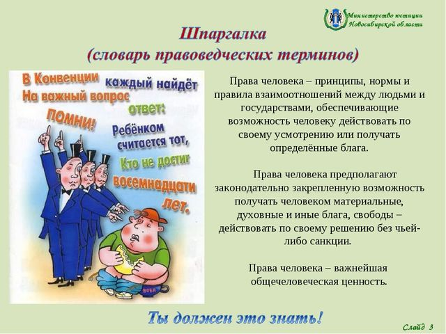 Министерство юстиции Новосибирской области Права человека – принципы, нормы и...