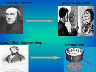 Жозеф Плато Фенакистископ Симон фон Штампфер Стробоскоп