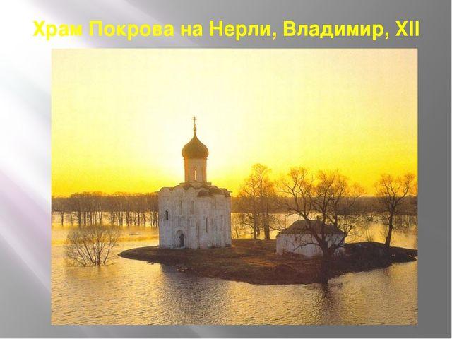 Храм Покрова на Нерли, Владимир, XII в.