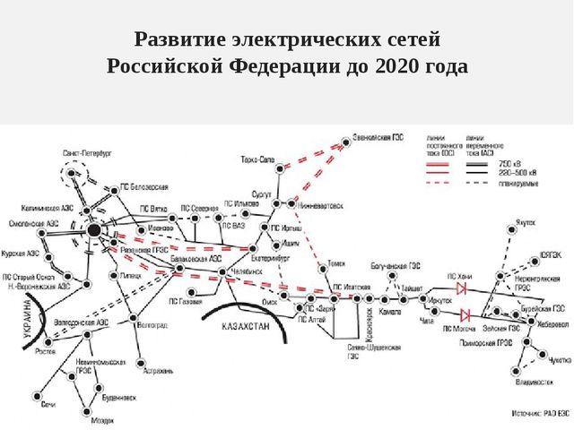Развитие электрических сетей Российской Федерации до 2020 года