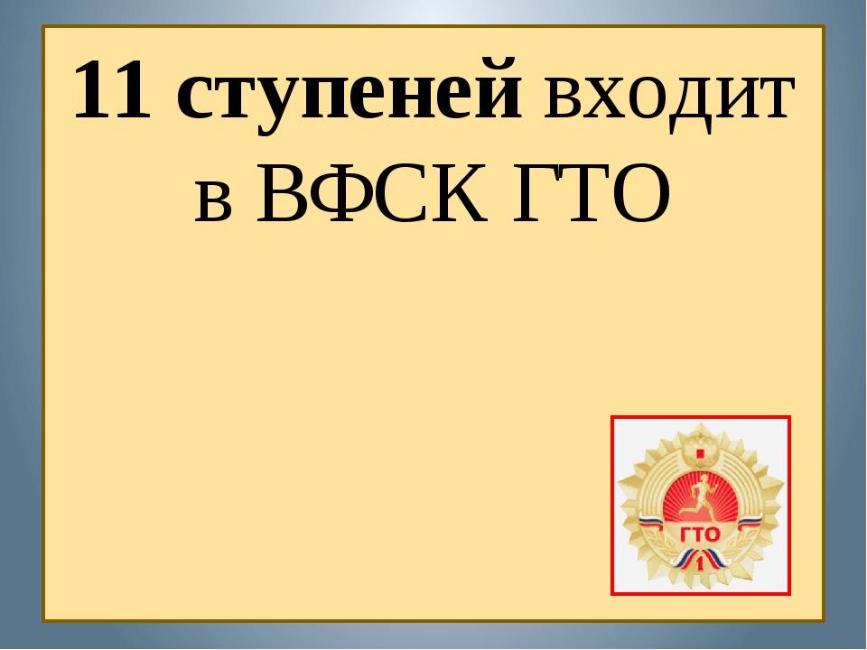 11 ступеней входит в ВФСК ГТО