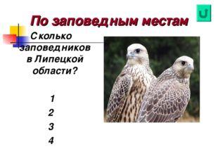 По заповедным местам Сколько заповедников в Липецкой области? 1 2 3 4