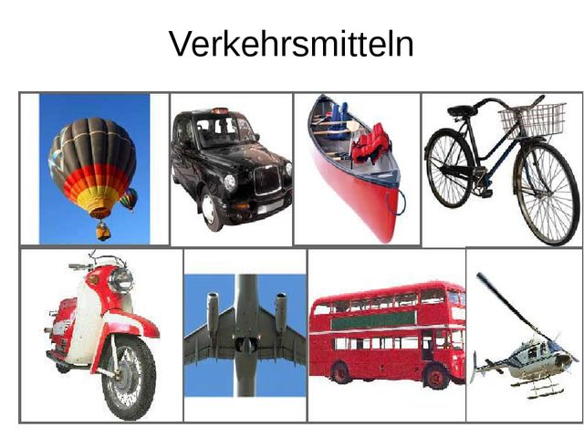 Verkehrsmitteln