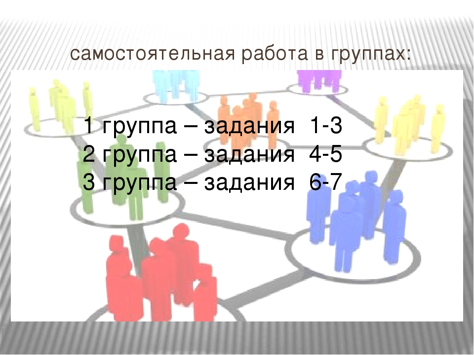 самостоятельная работа в группах: 1 группа – задания 1-3 2 группа – задания 4...