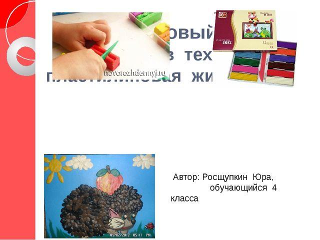 «Пластилиновый ёжик» (картина в технике пластилиновая живопись) Автор: Росщуп...