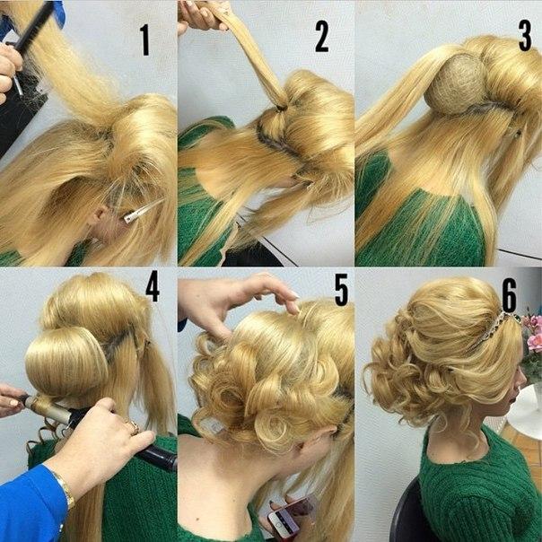Причёски на средние волосы своими руками поэтапно фото на каждый день