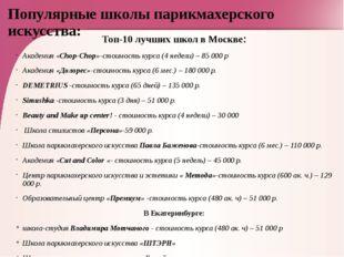 Популярные школы парикмахерского искусства: Топ-10 лучших школ в Москве: Акад