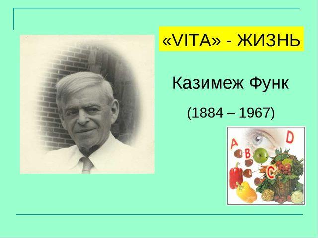 (1884 – 1967) Казимеж Функ «VITA» - ЖИЗНЬ