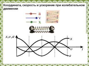 Координата, скорость и ускорение при колебательном движении http://linda6035.