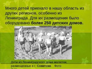 Много детей приехало в нашу область из других регионов, особенно из Ленингра