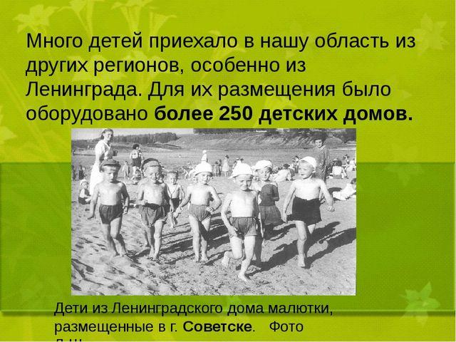 Много детей приехало в нашу область из других регионов, особенно из Ленингра...