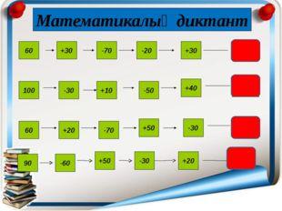 30 70 30 60 +30 -70 -20 +30 100 -30 -50 +10 +40 60 +20 -70 +50 -30 Математик