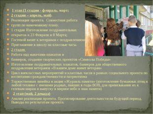 I этап (1 стадия - февраль, март; 2 стадия – апрель, май). Реализация проект