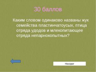 30 баллов Каким словом одинаково названы жук семейства пластинчатоусых, птица