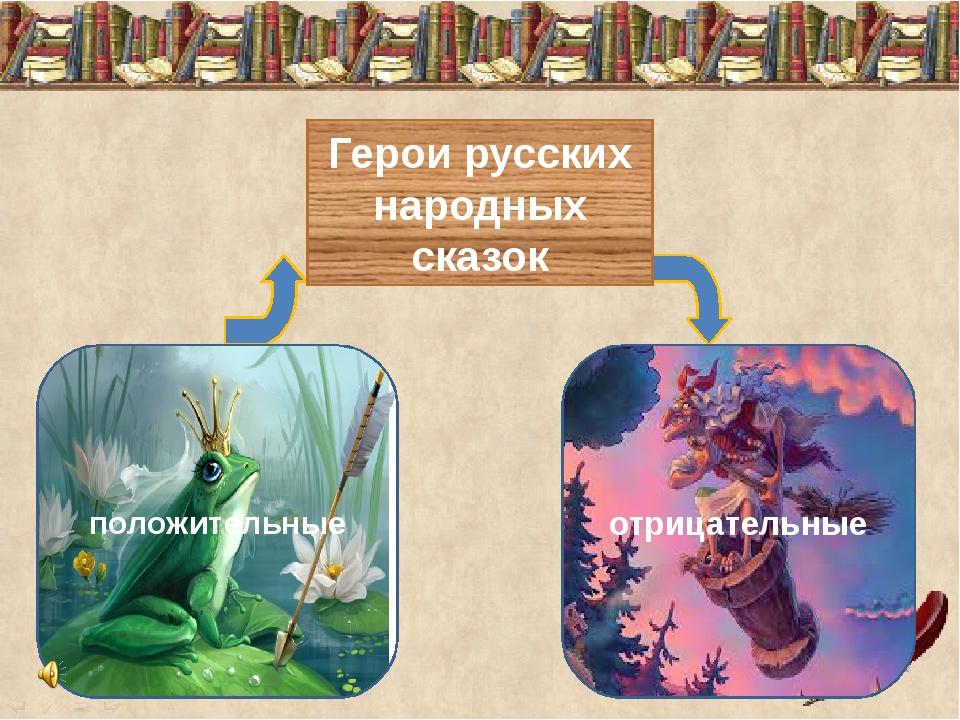 Герои русских народных сказок положительные отрицательные