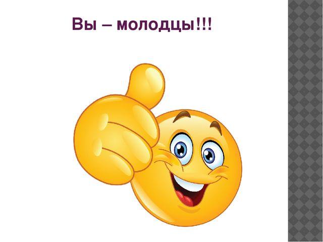 Вы – молодцы!!!