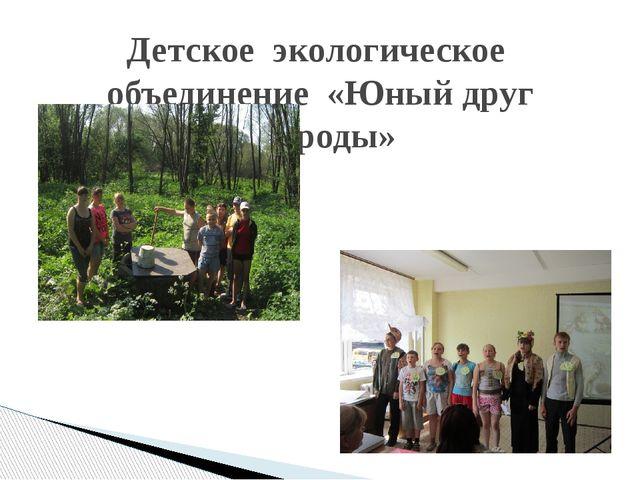 Детское экологическое объединение «Юный друг природы»