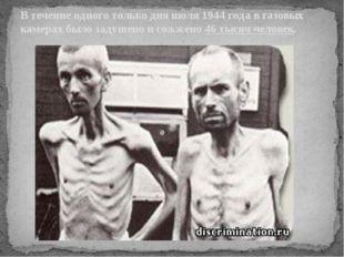 В течение одного только дня июля 1944 года в газовых камерах было задушено и