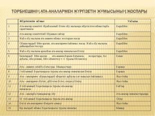 СЫНЫП ЖЕТЕКШІСІНІҢ 2008-2009 ОҚУ ЖЫЛЫНДА АТ А – АНАЛАРМЕН ЖҮРГІЗЕТІН ЖҰМЫСЫНЫ