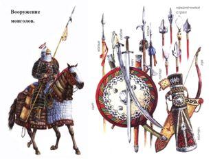 Вооружение монголов.