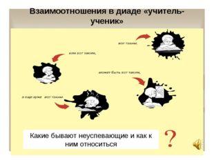 Взаимоотношения в диаде «учитель- ученик» Какие бывают неуспевающие и как к н