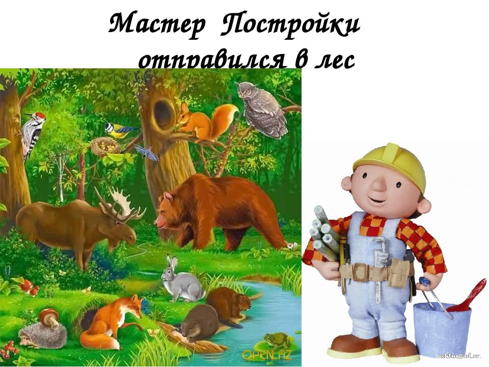 Мастер Постройки отправился в лес
