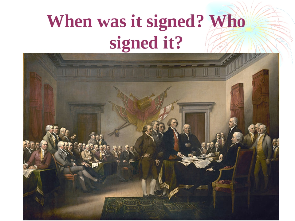 When was it signed? Who signed it?
