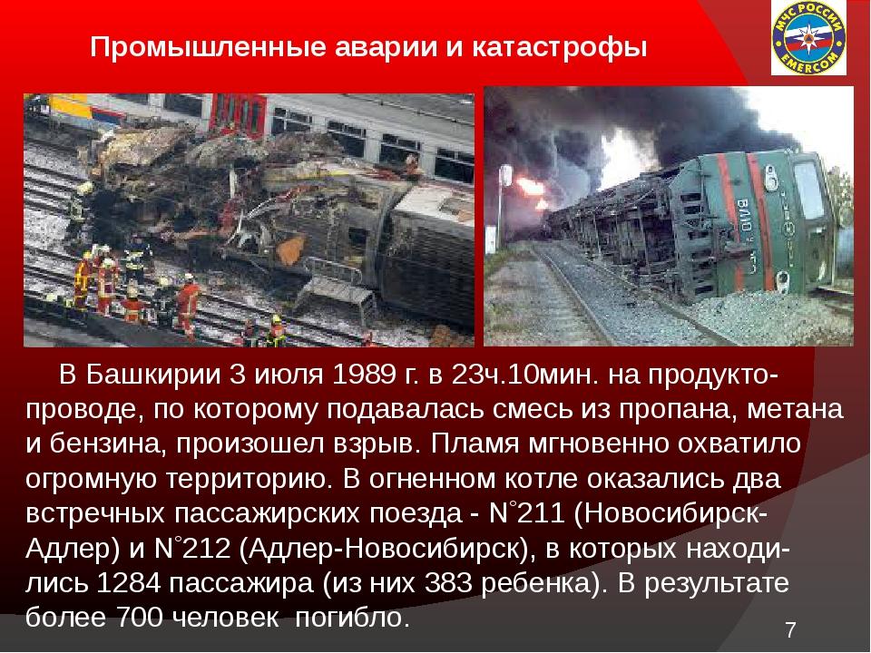 Промышленные аварии и катастрофы В Башкирии 3 июля 1989 г. в 23ч.10мин. на п...