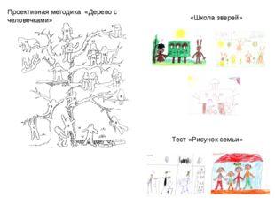 Проективная методика «Дерево с человечками» «Школа зверей» Тест «Рисунок семьи»