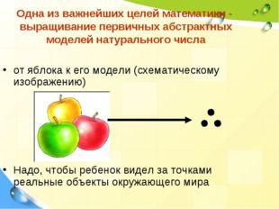 Одна из важнейших целей математики - выращивание первичных абстрактных моделе