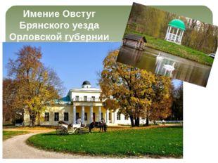 Имение Овстуг Брянского уезда Орловской губернии
