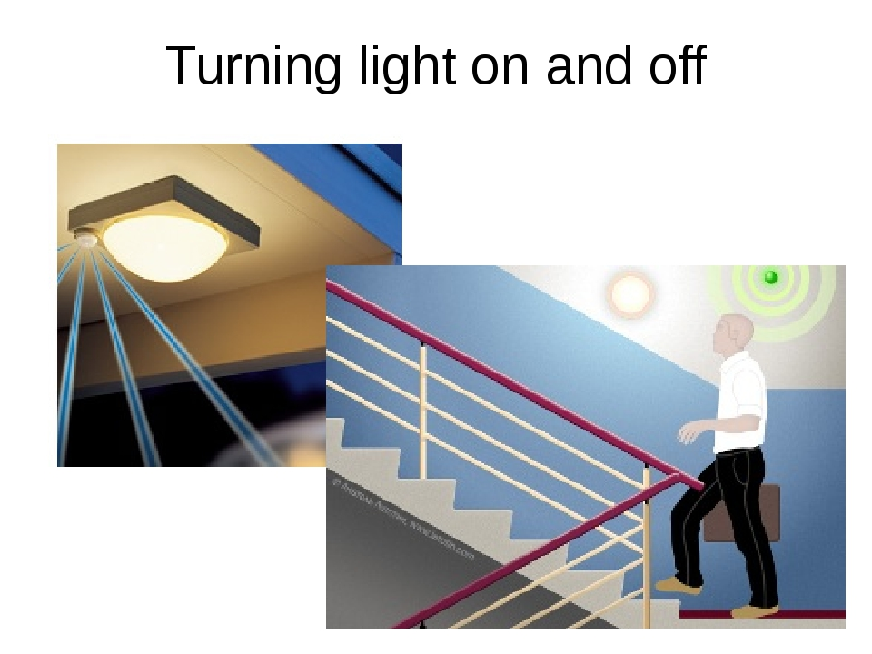 Turning light on and off
