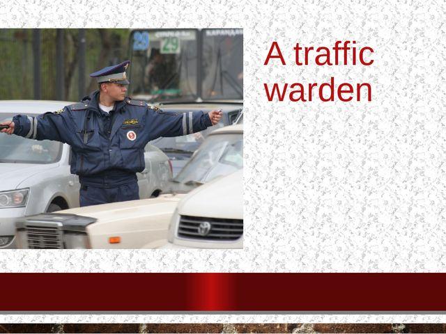 A traffic warden