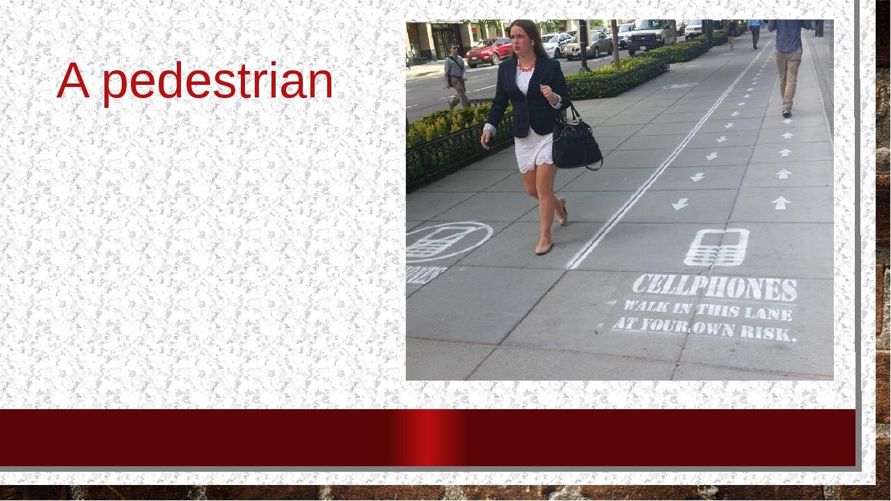 A pedestrian