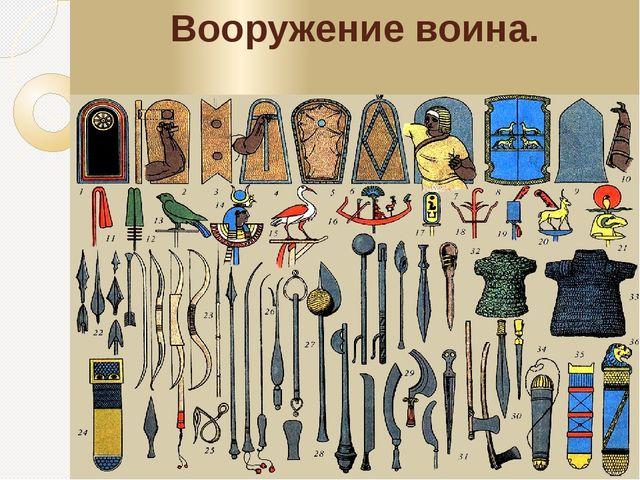 Вооружение воина.