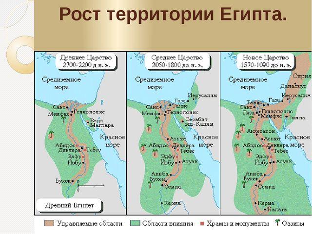 Рост территории Египта.